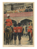 England, Proclamation of the New King George V Premium Giclee Print by  French School