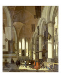 The Interior of the Oude Kerk, Amsterdam Premium Giclee Print by Emanuel de Witte