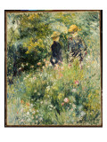 Conversation in a Rose Garden, 1876 Giclee Print by Pierre-Auguste Renoir