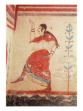 Tomb of the Acrobats, Detail of a Dancer Giclee Print by  Etruscan