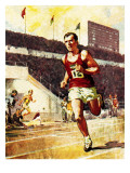 Running a Marathon in the Olympics Giclee Print by  McConnell