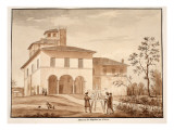 The House of Raphael on the Pincio, 1833 Giclee Print by Agostino Tofanelli