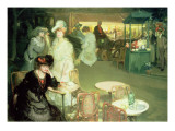 Cocktail Hour, or Cafe De Nuit, 1906 Giclee Print by Richard E. Miller