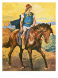 Alexander the Great on Horseback Giclee Print by Alberto Salinas