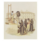 An Execution in Rome for Murder, 1820 Giclee Print by Richard Bridgens