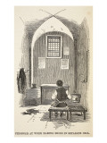 Prisoner at Work Making Shoes in Separate Cell Giclee Print by  English School