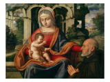 The Virgin and Child with Kneeling Donor Giclee Print by Andrea Previtali