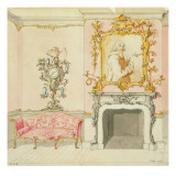 Proposal for a Drawing Room Interior, 1755-60 Giclee Print by John Linnell
