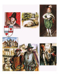 The Story of Scotland: One King, Two Crowns Giclee Print by Escott