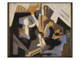 Cubist Still Life in Blue and Grey, C.1917 Giclee Print by Maria Blanchard