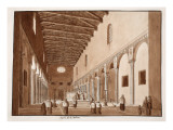 The Church of Santa Sabina, 1833 Giclee Print by Agostino Tofanelli