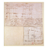 W.23R Architectural Sketch with Notes Giclee Print by  Michelangelo Buonarroti