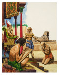 A Slave Is Brought before the Pharaoh Giclee Print by Peter Jackson