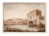 Ponte Nomentano, or Lamentano, 1833 Giclee Print by Agostino Tofanelli