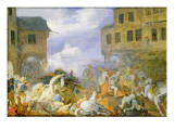 Street Battle in the Malostranske Namesti Giclee Print by Roelandt Jacobsz. Savery