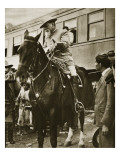 Venustiano Carranza on Horseback, C.1913 Impression giclée