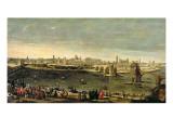 View of the City of Zaragoza Giclee Print by Juan Bautista Marti Nez Del Mazo