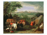 The Siege of Tournai by Louis Xiv Giclee Print by  Meulen