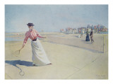 Lawn Tennis on the Normandy Coast Giclee Print by Albert Lynch