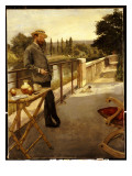 An Elegant Man on a Terrace, 1885 Giclee Print by Henri Gervex