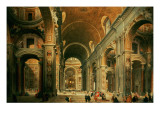 Interior of St. Peter's, Rome Giclee Print by Giovanni Paolo Pannini