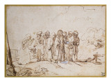 Christ and the Canaanite Woman Giclee Print by  Rembrandt van Rijn