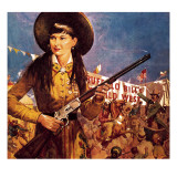 Sharpshooter Annie -- Annie Oakley and Her Gun Giclee Print by McConnell