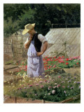 A Corner of the Rose Garden at Bagatelle Giclee Print by Henri Adolphe Laissement