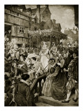Mary Queen of Scots Enters Edinburgh, 1561 Giclee Print by William Hole