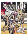 The Fall of the Roman Empire in the West Giclee Print by Ron Embleton