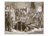 Fitz-Arthur Forbidding the Burial of William Giclee Print by Edouard Zier