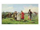 Off to the Zaporozhian Host, 1889 Premium Giclee Print by Opanas Georgievich Slastion