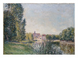 The Loing and the Church at Moret, 1886 Giclee Print by Alfred Sisley