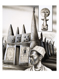 Primitive Homes: Pinnacles of Plaster Giclee Print by Pratt 