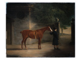 A Hunter and a Groom in a Courtyard, 1816 Giclee Print by John E. Ferneley