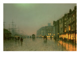 Liverpool Docks from Wapping, C.1870, Giclee Print by  Grimshaw