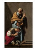 St. Peter Baptising the Centurion Cornelius Giclee Print by Francesco Trevisani