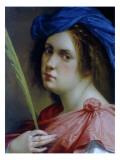 Self Portait as a Martyr, C.1615 Giclée-tryk af Artemisia Gentileschi