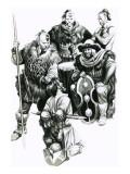 Attila the Hun Torturing a Captive Giclee Print by Ron Embleton