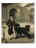 Coachman with Newfoundland Dog Premium Giclee Print by John E. Ferneley