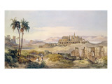 View of the Ruins of Karnak in Egypt Lámina giclée por Charles Pierron