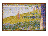 Women on the River Bank, C.1884-85 Giclee Print by Georges Seurat