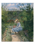 Jeanne in the Garden, Pontoise, C.1872 Giclee Print by Camille Pissarro