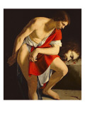David Contemplating the Head of Goliath Giclee Print by Orazio Gentileschi