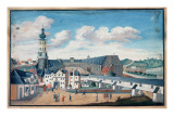 View of Weimar with the Castle of Wilhelmsburg Giclee Print by  German School