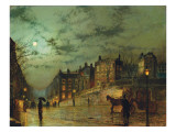 Hampstead Hill, Looking Down Heath Street, 1881 Premium Giclee Print by  Grimshaw