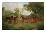 The Streatlam Stud, Mares and Foals, 1836 Giclee Print by John Frederick Herring Snr