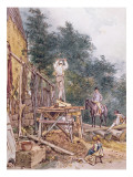 Dr. Monro Inspecting His Stables Giclee Print by William Holman Hunt