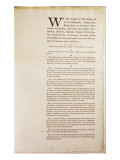 The United States Constitution, 1787 Giclee Print by  American School