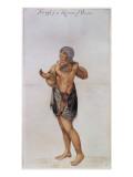 Indian Woman and Baby of Pomeiooc Reproduction procédé giclée par John White